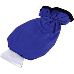 grattoir a givre pour pare brise avec gant rembourré bleu hp autozubehor