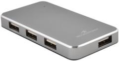 Hub 4 ports extra fin USB 2.0 en aluminium avec alimentation