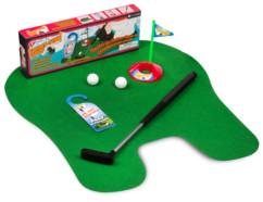 jeu de golf pour toilettes avec club 2 balles trou thumbs up