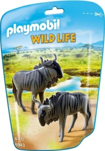 Jouet Playmobil collection Le Zoo - Couple de Gnous (n° 6943)