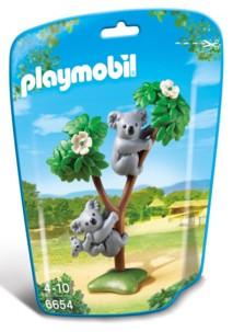 Jouet Playmobil collection Le Zoo - Couple de Koalas et leur bébé (n° 6654)