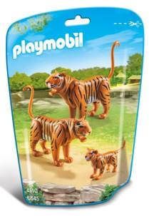 Couple de tigres et leur bébé n°6645