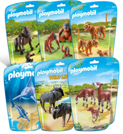 Lot Playmobil collection Le Zoo - 6 packs d'animaux n°1