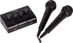 kit karaoke avec mini table mixage et deux micro dynamiques flaires TV STATION LTC audio