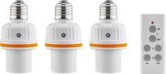 pack de 3 douilles telecommandées pour toutes ampoules 60w goobay