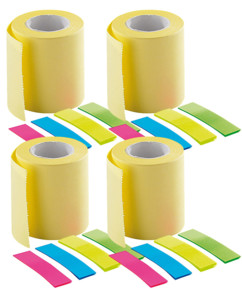 4 kits de recharge pour distributeur de post-it