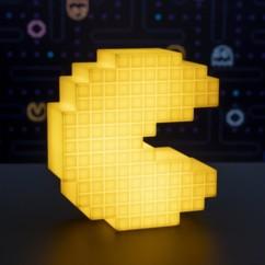 lampe déco forme pac man retro pixel lumière jaune decoration chambre geek retrogamer