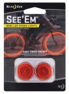 Mini balises LED rouge pour rayon de vélo Se'Em (x2)