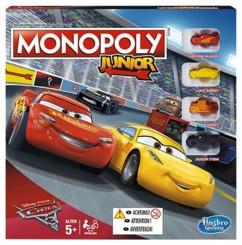 monopoly junior edition cars 3 avec petit plateau de jeu et figurines voitures flash mcqueen