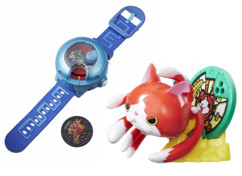 Montre à double projection Yo-Kai Watch Modèle U + figurine support Jibanyan