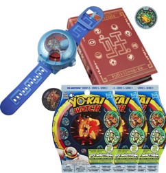 Montre à double projection Yo-Kai Watch Modèle U + Medallium + 6 Médailles