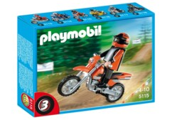 Motocross Playmobil 5115.