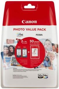 pack de cartouches originales Canon PGI 545 CLI546 XL noir et couleur