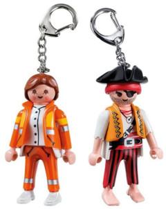 Pack de 2 porte-clés Playmobil secouriste + pirate