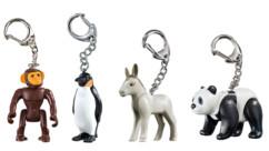 Pack de 4 porte-clés Playmobil animaux