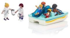 Pack Playmobil avec 1 pédalo et 6 personnages