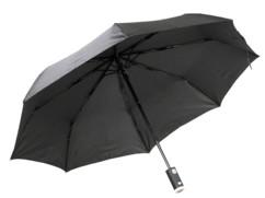 parapluie pliable avec mini lampe de poche led integree dans poignee genius ideas