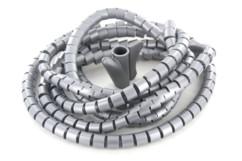 gaine passe cable souple pliable 22mm longueur 3m couleur argent