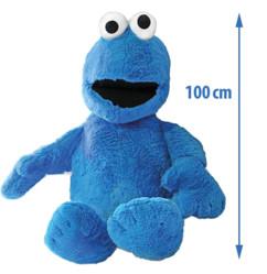 Peluche Cookie Monster zoom sur la tête.