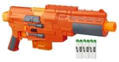 fusil blaster nerf avec flechettes en mousse phosphorescentes glowstrike star wars rogue one jyn erso