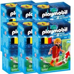 6 joueurs de foot Playmobil Sports & Action - Belgique