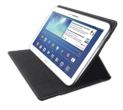 "pochette etui pour tablette tactile android ipad 10"" avec pad collant reutilisable trust stick & go"