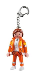 Porte-clé Playmobil secouriste.