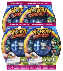 "Lot de 4 sachets de 2 médailles Yo-Kai Watch ""Yo-Motion"" Saison 2"