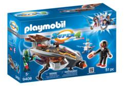 Set Playmobil Super 4 : Navette Sykronienne avec Gene 9408