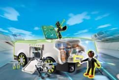 playmobil super 4 techno cameleon avec figurine gene set 6692