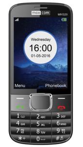 telephone portable grand ecran petit prix avec appareil photo sms mms autonomie 12j maxcom mm320