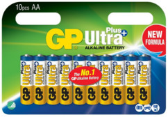 Piles alcalines AA GP Ultra+ - x10