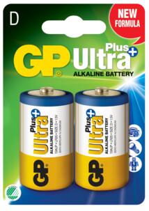 Piles alcaline type D (LR20) GP Ultra - Lot de 2