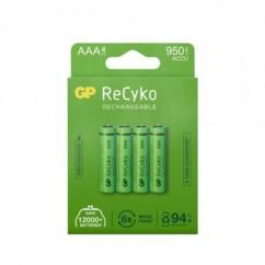 Pack de 4 accus AAA ReCyko+ Pro GP Batteries.