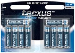 Tecxus piles LR6 type AA - Lot de 10