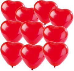 10 Ballons en coeur