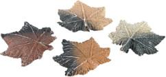 Feuilles d'érable en céramique décoratives pour cheminée au bioéthanol