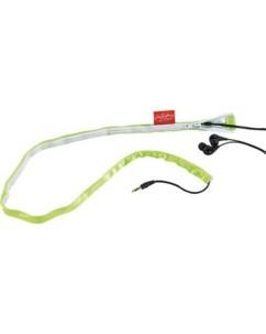 Gaine pour câble d'écouteurs audio - Vert