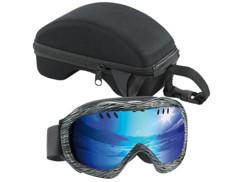 Masque de ski avec étui de transport rigide