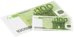 Mouchoirs ''100 Euros''