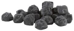 Pierres décoratives noires pour cheminée au bioéthanol - Noir