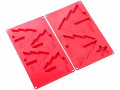 2 moules en silicone pour sapins en 3D