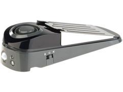 butoir de porte multifonction avec détecteur de mouvement, lumière LED et alarme