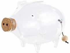 Cochon tirelire en verre