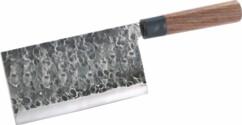Feuille de boucher chinois avec manche en bois