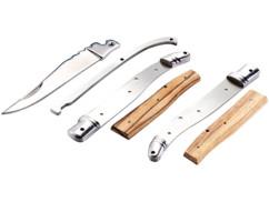 Couteau pliant en kit, en acier inoxydable avec manche en bois véritable