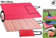 couverture extérieur special picnic 150 x 180 cm avec anse de transport Pearl format replié