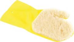 Gant avec éponge de lustrage en laine - Gant gauche