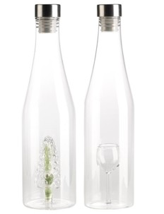 Lot de bouteilles déco avec compartiment secret - Grappe & Coupe