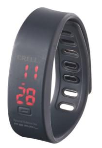 montre bracelet en silicone avec affichage digital mixte crell